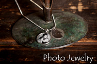 Small Pendant Necklace with Hand Stamped Charm