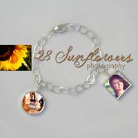 Large Photo Pendant Necklace Lariat Necklace Delicate Photo Charm Bracelet ...
